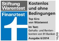 Stiftung Warentest (Finanztest): Kostenlos und ohne Bedingungen 6/2014